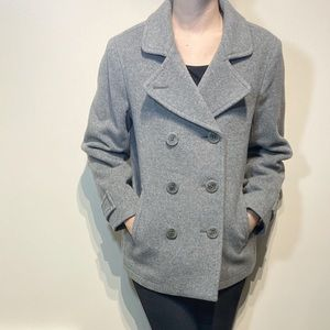 LL Bean great pea coat anchor buttons
